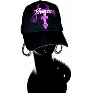 Prince-RIP-Sexy Black Fitted Adjustable B~ball Cap